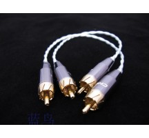 BlueBird RCA audio cable 35CM or 70CM, Music Heaven pure sliver-plated cooper hight HIFI quality