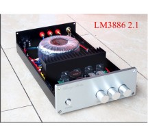 Weiliang Breez Audio BA1 LM3886 2.1 channel power amplifier with subwoofer Output HIFI EXQUIS amp up to 10A