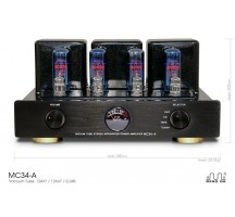 MeiXing MingDa Classic tube MC34-A integrated amplifier HIFI EXQUIS EL 34 push-pull with remote control function