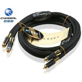 CHOSEAL AB-5408 single crystal copper OCC RCA interconnect audio cable Can Lock HIFI EXQUIS signal line 1.5 m
