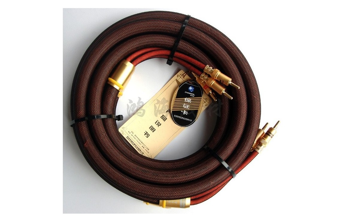 TOP CHOSEAL LB-5109 speakers cables with banana plug connector HIFI ...