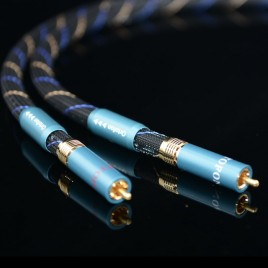 Hifi exquis 8N OFC copper digital RCA Audio Cable with Gold plated Nakamichi connection plugs