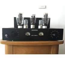 Old Buffalo Psvane 300B signal-ended tube amplifier hifi exquis amp Black Aluminum chassis 4-way switch 25W power trasformer