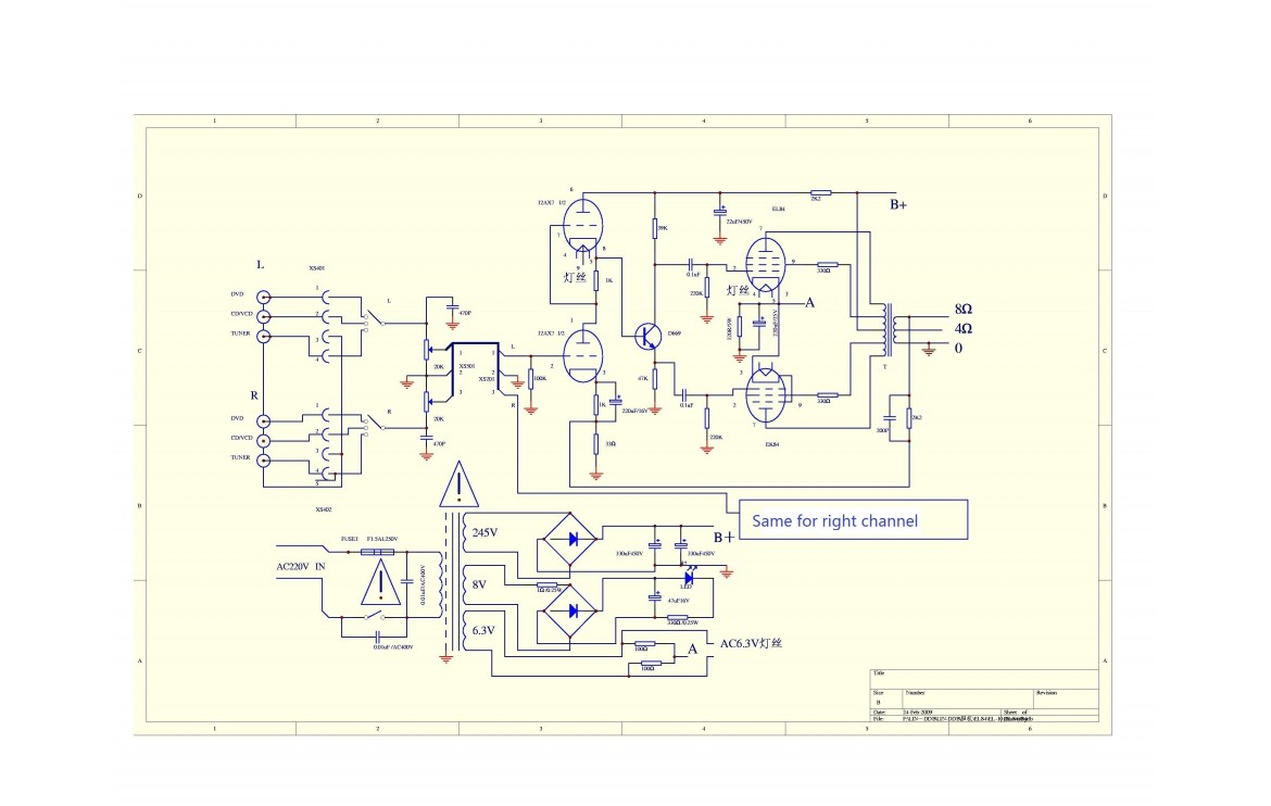 40   Power Supply Schematic on 700w power lifier with 2sc5200