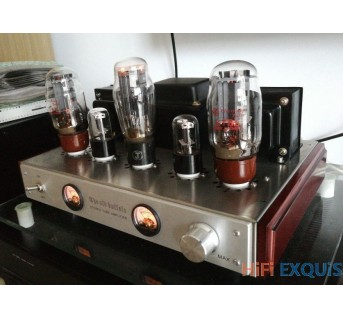 Old Buffalo KT66 HIFI tube amplifier with UV meter good sound